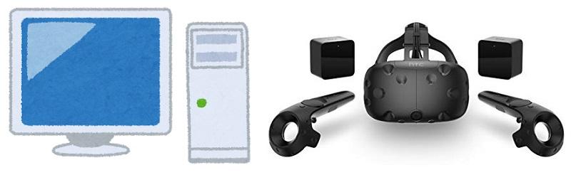 PC+VRヘッドマウントディスプレイ(HMD)