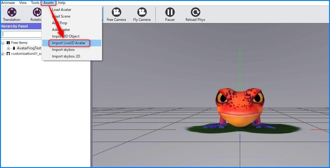 Animaze Editor Live2Dモデル